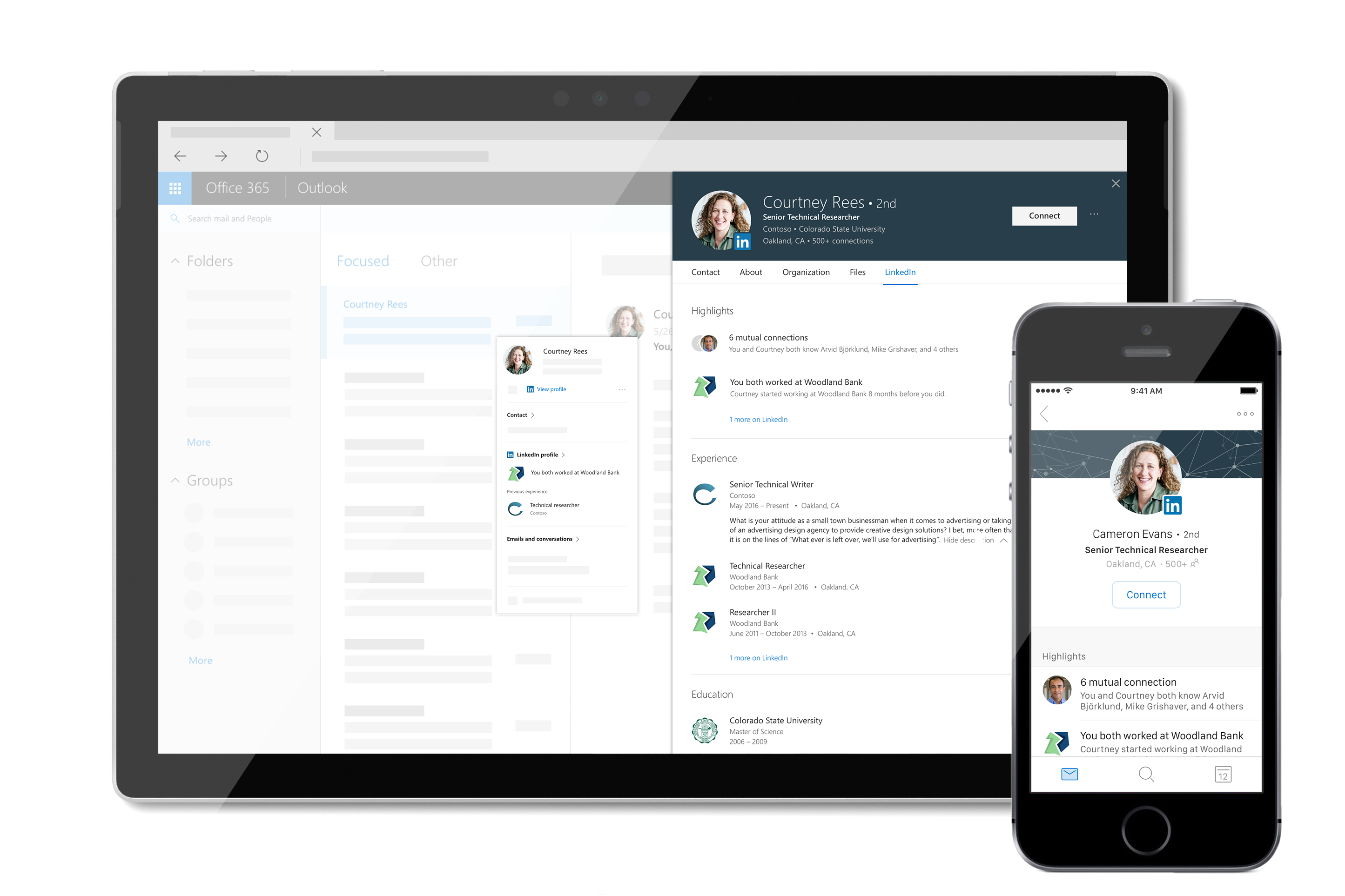 Adding LinkedIn's Profile Card on Office 365 Offers a Simple Way to Build a Professional Relationship