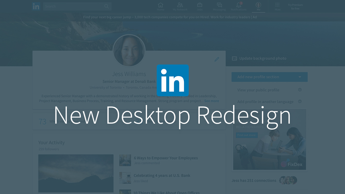 Linkedin Desktop Redesign Puts Conversations And Content At The Center   Official Linkedin Blog